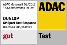 Dunlop SP FastResponse - Good - ADAC Motorwelt - 2012